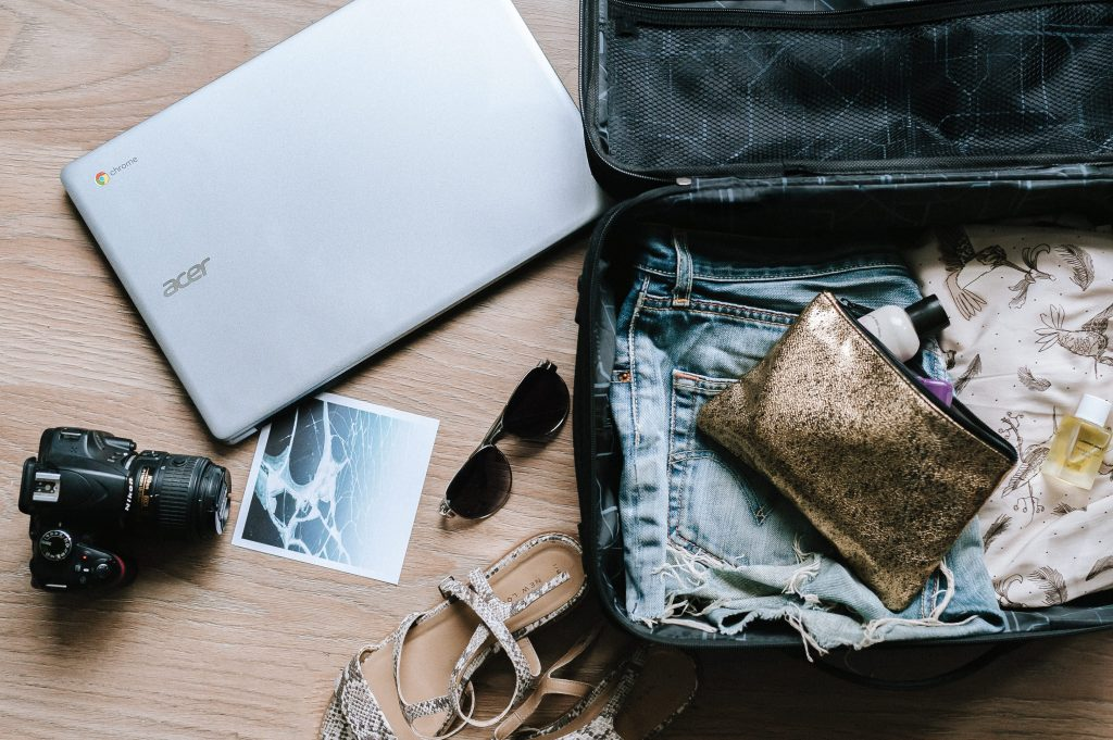 A bag that could use travel organizers.