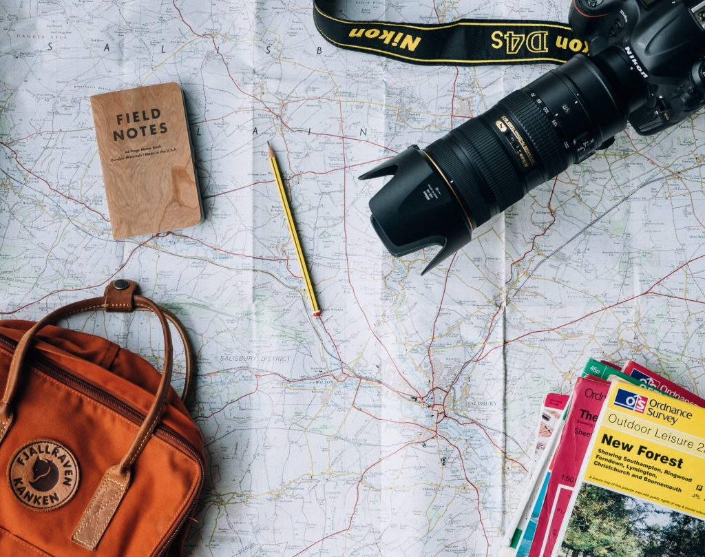 Some various travel accessories.
